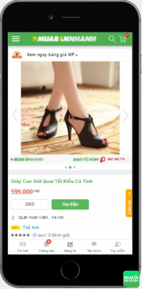 Giày cao gót nữ đẹp được bán trên Mạng xã hội MuaBanNhanh