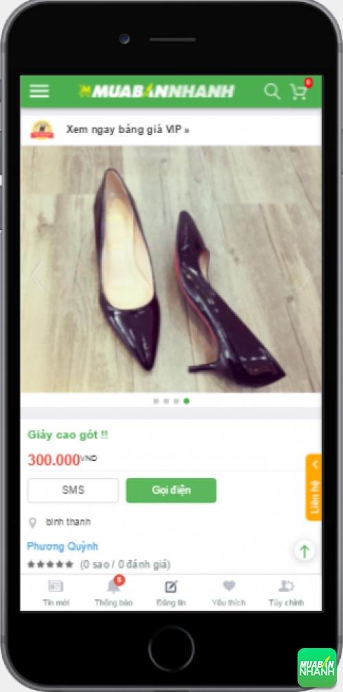 Giày cao gót mũi nhọn trên Mạng xã hội MuaBanNhanh