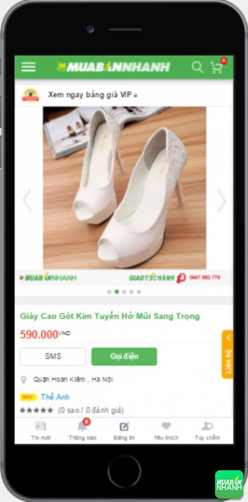 Chọn mua giày cao gót xinh giá rẻ trên Mạng xã hội Mua Bán Nhanh