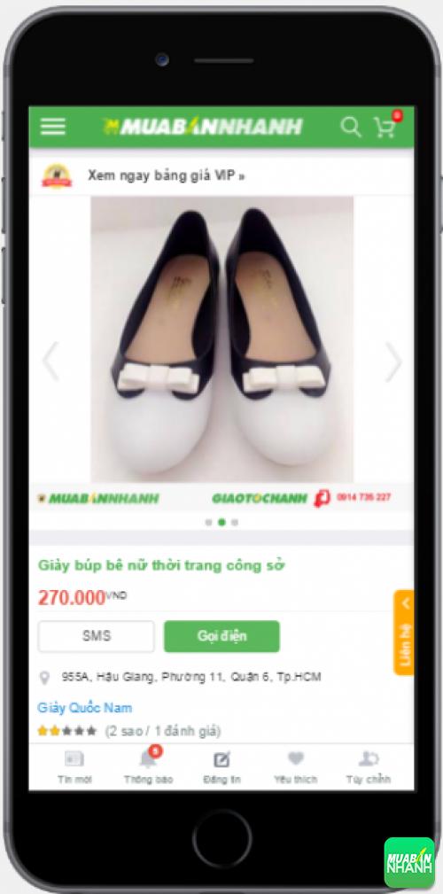 Chọn mua giày búp bê xinh trên Mạng xã hội Mua Bán Nhanh