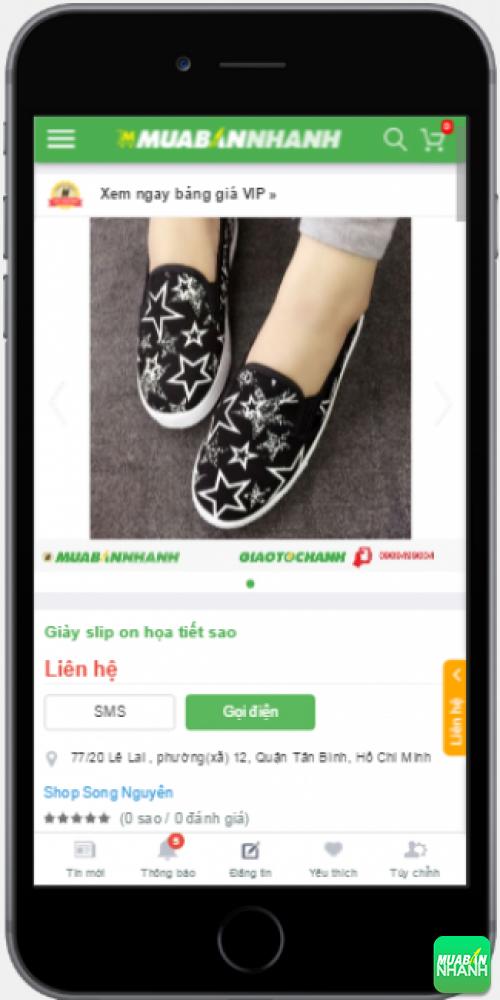 Giày slip on năng động và tiện dụng