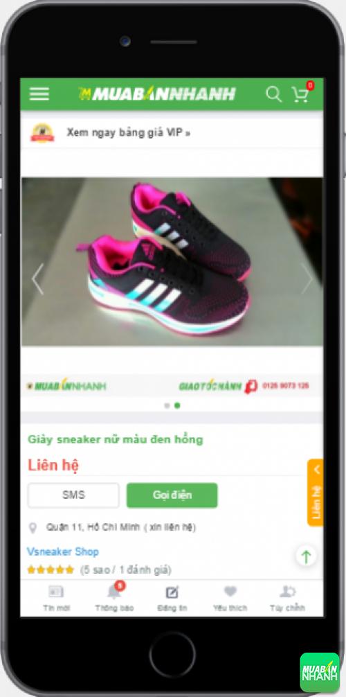 Giày sneaker nữ cá tính được bán trên Mạng xã hội Mua Bán Nha