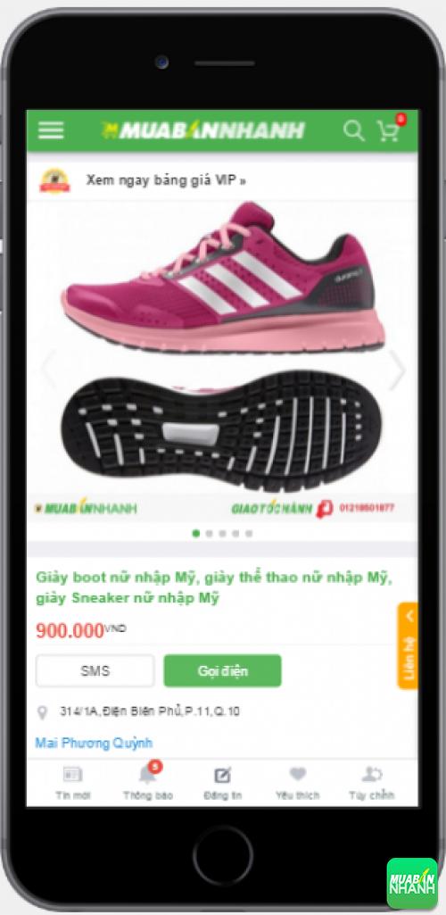 Giày sneaker nữ cá tính được bán trên Mạng xã hội Mua Bán Nhanh