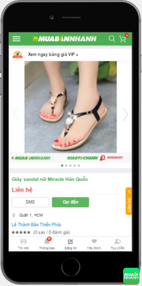 Sandal nữ đẹp được bán trên Mạng xã hội Mua Bán Nhanh