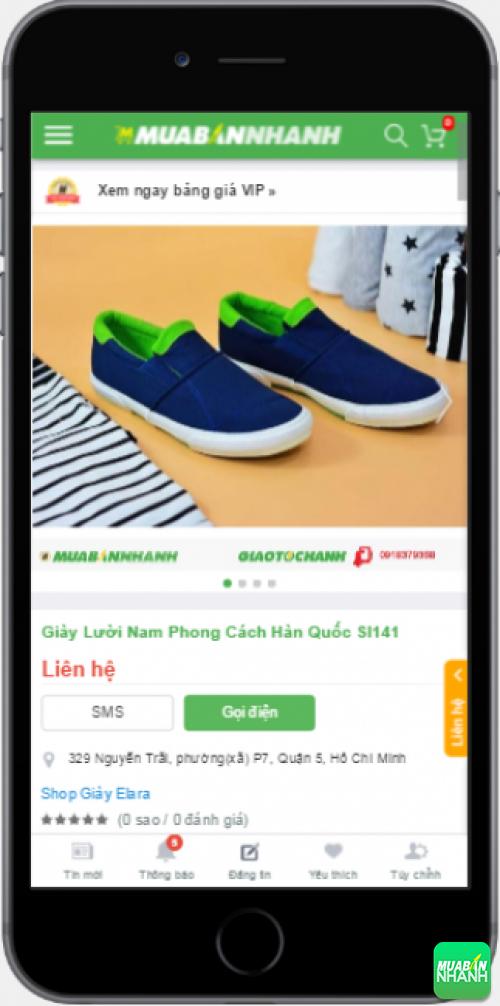 Giày mọi nam cá tính được bán trên Mạng xã hội Mua Bán Nhanh