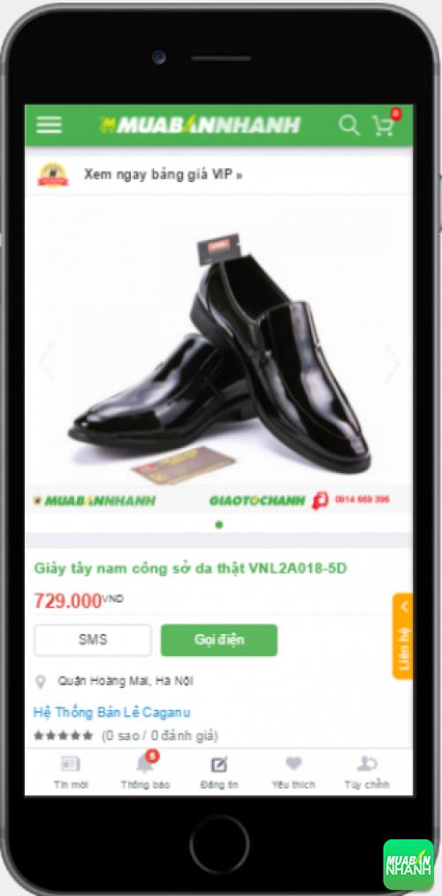 Giày tây cho nam sành điệu được bán trên Mạng xã hội Mua Bán Nhanh