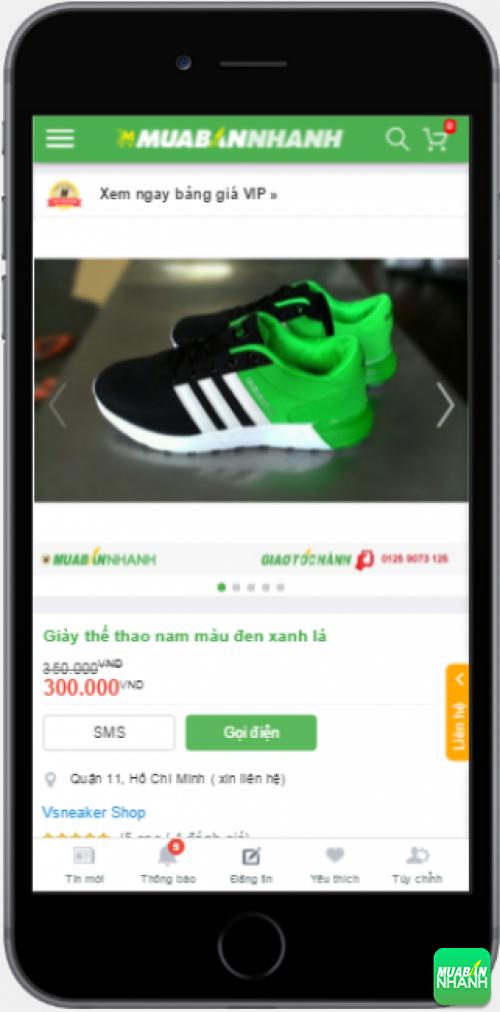 Giày thể thao nam trẻ trung được bán trên Mạng xã hội Mua Bán Nhanh