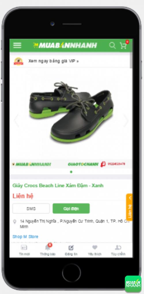 Mẫu giầy crocs hàng thật có bán trên Mua Bán Nhanh